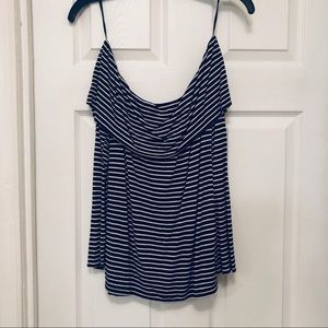 LUCKY BRAND OFF SHOULDER STRIPED TOP